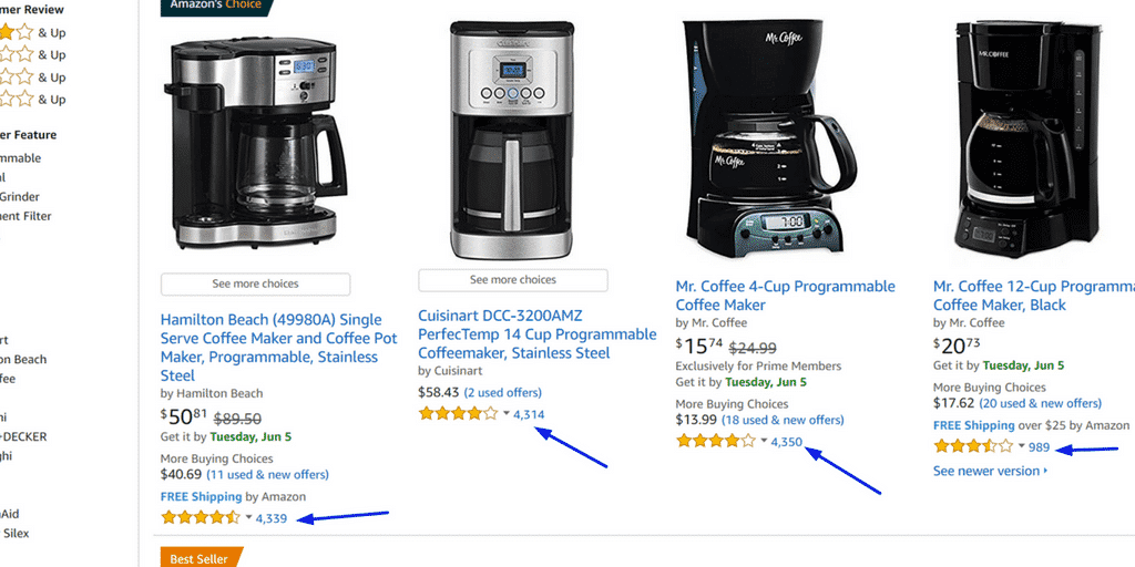 The consistency, quantity and quality of your products Amazon reviews directly impact: How high your product ranks in Amazon related product search results.