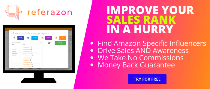 Referazon - Improve Amazon Sales Rank - Find Amazon Influencers