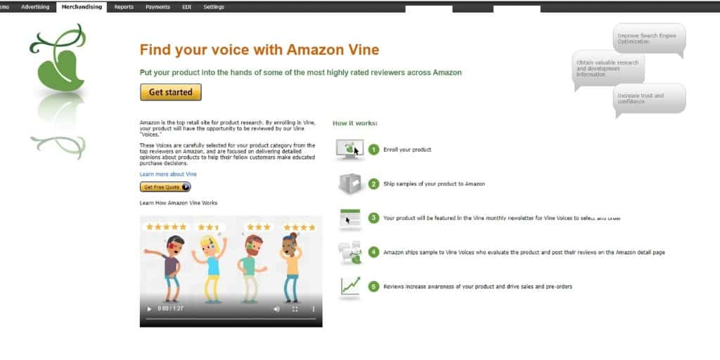 Amazon Vine - How To Get Amazon Reviews - The Source Approach - Amazon Consultant and eCommerce Consultant